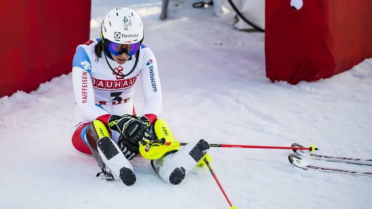 Wendy Holdener verpasst die erhoffte WM-Medaille im Slalom.