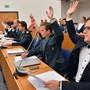 Die SVP gibt am Donnerstag im Gemeindeparlament eine Fraktionserklärung zum Thema Interventionsgruppe ab.Bild: Bruno Kissling (24.8.2017)