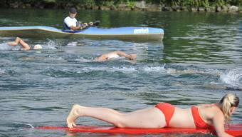 212 Schwimmerinnen und Schwimmer verbrachten den heissen Sommertag in der Aare.