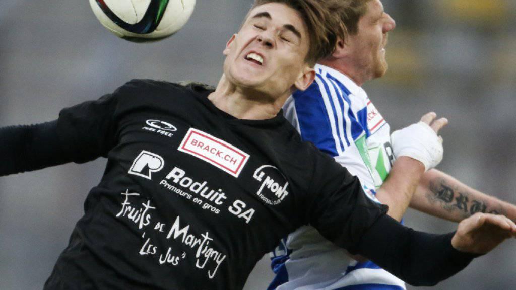 Benjamin Kololli, hier noch im Dress des FC Biel, spielt in der kommende Saison beim Super-League-Aufsteiger Lausanne