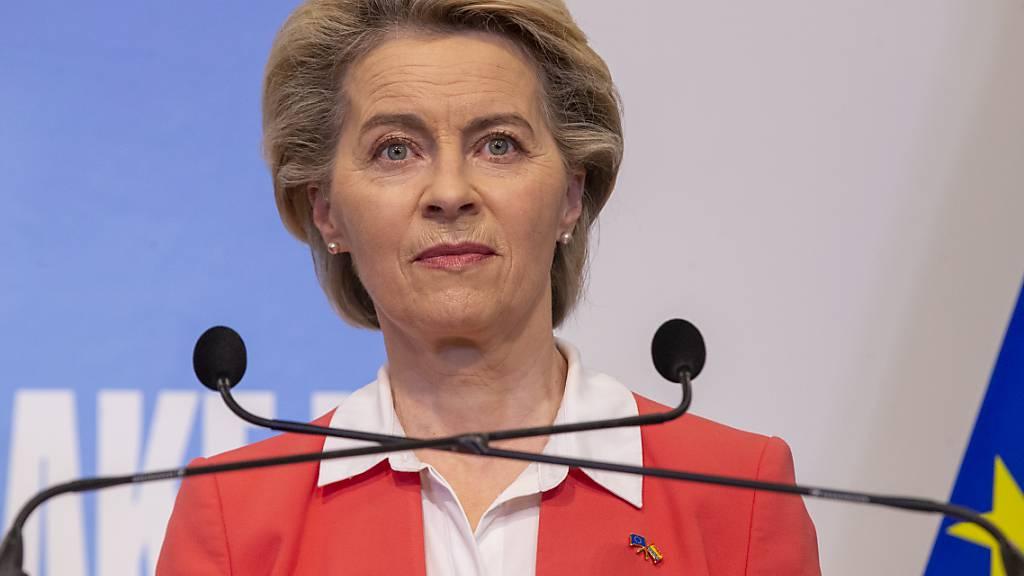 Ursula von der Leyen, Präsidentin der EU-Kommission. Foto: Nicolas Maeterlinck/BELGA/dpa