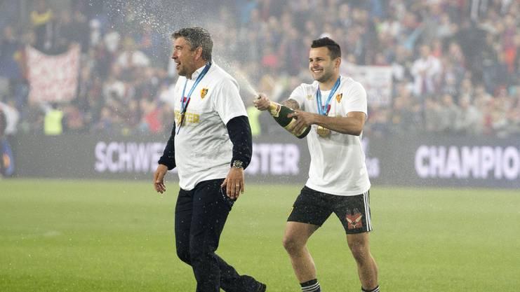 Steffen und Trainer Fischer gewannen im letzten Jahr die Meisterschaft: Es war der erste Titel für beide.