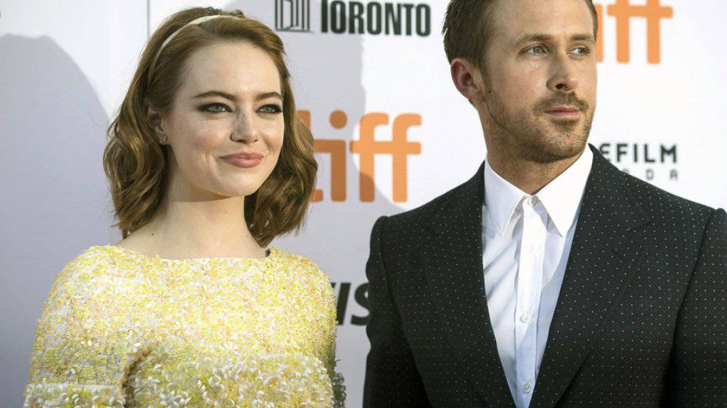 """Ryan Gosling (r) und Emma Stone begeistern im Musical """"La La Land"""" das Publikum des Filmfests in Toronto (Archiv)"""