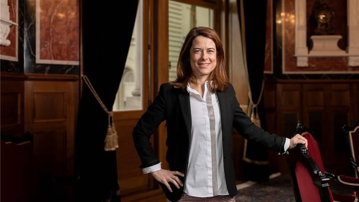 Parteipräsidentin Petra Gössi triumphierte durch die Umfrage.SEVERIN BIGLER