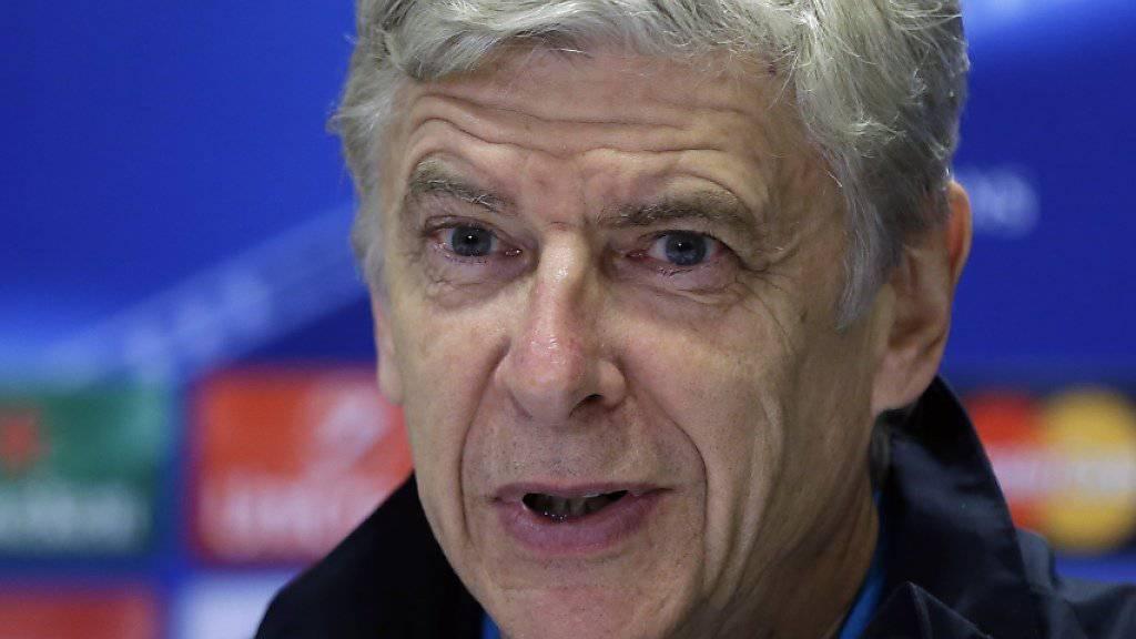 Arséne Wenger und Arsenal müssen gegen Olympiakos Piräus mit zwei Toren Differenz gewinnen, um sich für die Achtelfinals zu qualifizieren