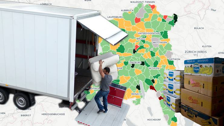 Wohin am meisten umgezogen wird im Aargau – und wohin nicht