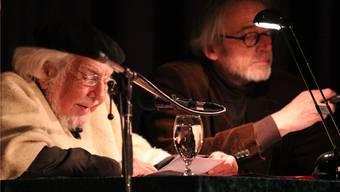 Ernesto Cardenal (links), Ikone der Befreiungstheologie, macht diesmal in der Schweiz einzig in Dornach halt.