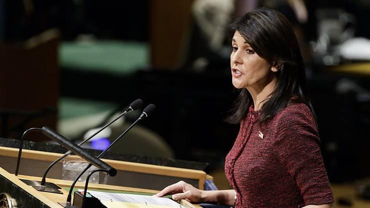 Die USA stimmen gegen einen globalen Umwelt-Pakt auf der Uno-Vollversammlung; die US-Botschafterin bei den Vereinten Nationen, Nikki Haley, bezeichnete das Abkommen als zu vage. (Archivbild)