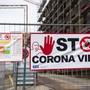 Virus-Warnung auf einer Baustelle in der Westschweiz. (Themenbild)