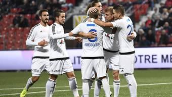 Jubel beim FC Wohlen: Gegen Wil gelingt der vierte Auswärtssieg in Folge.