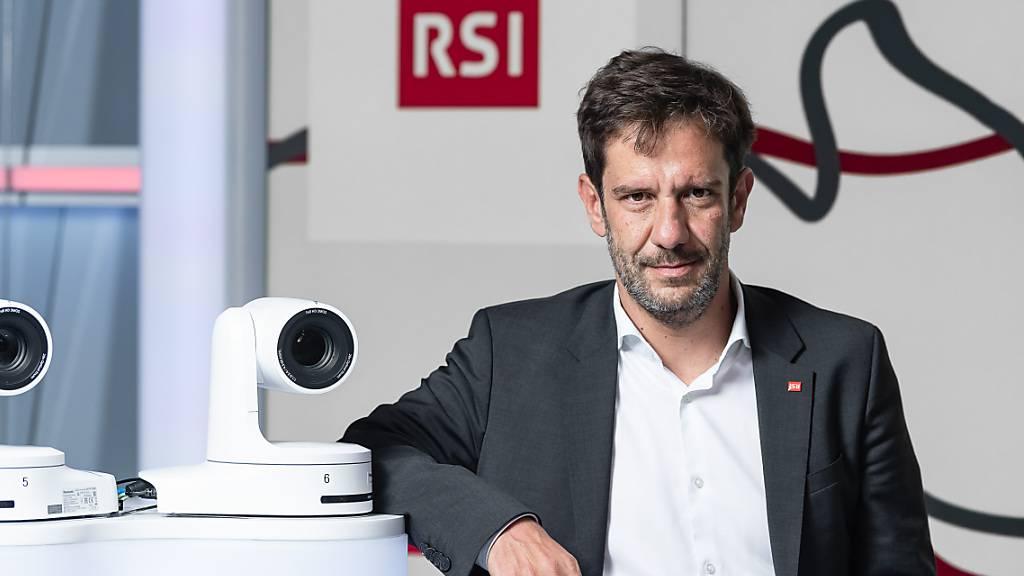 Der neue RSI-Direktor Mario Timbal hat am Dienstag über Sparmassnahmen informiert.