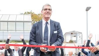 Hier eröffnet Paul Wertli als OK-Präsident die «Gwerbi'16».