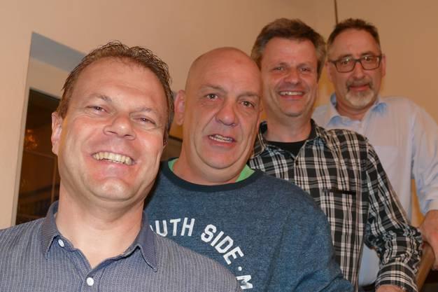 von links - Edwin Keusch (Präsident), Rolf Gut (Aktuar) Guido Feer (Technischer Leiter) und Roland Frick (Kassier) - es fehlt Hansi Lips (Vize-Leiter).