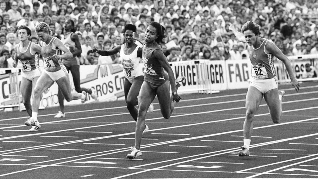 Am Olympischen Tag 1983 lief Marlies Göhr 100 m in 10,81