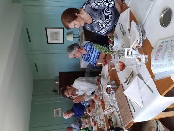 und beim Mittagessen im Kloster-Restaurant