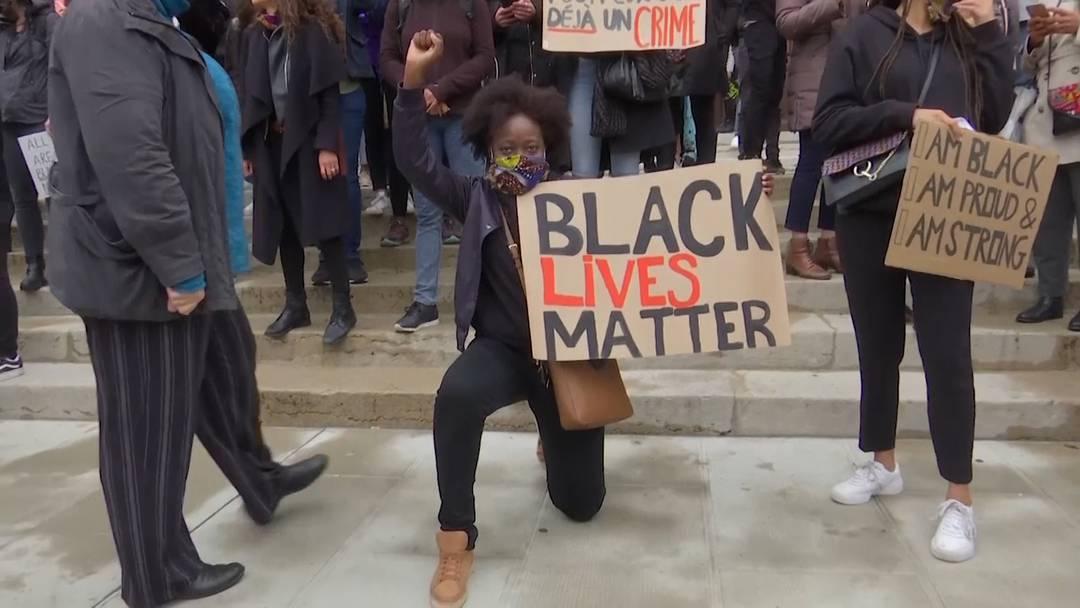 Antirassismus-Proteste in Genf - erste Grossveranstaltung seit den Lockerungen