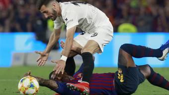 Jose Gayas Valencia brachte das grosse Barcelona mit Malcolm zu Fall