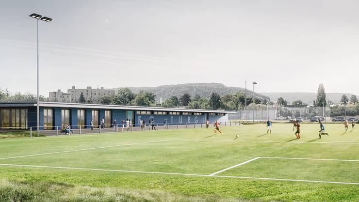 Visualisierung Sportplatz Oberau