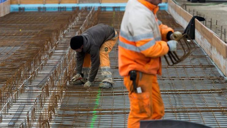 Im Baugewerbe stieg die Zahl der Beschäftigten um 0,6 Prozent