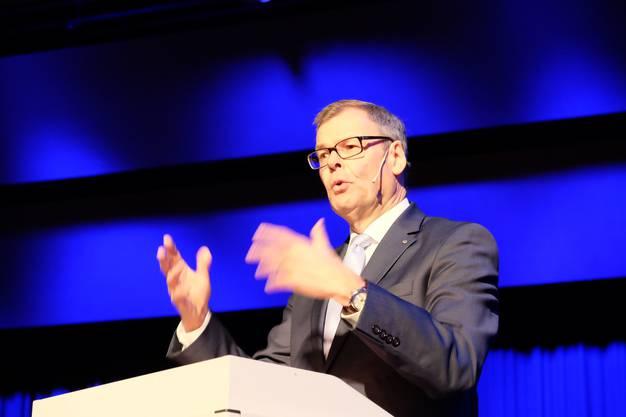 Stadtpräsident Otto Müller spürt in seiner Ansprache dem Thema Glück nach.