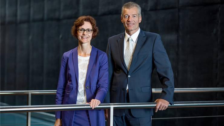 Seit einem Jahr stehen sie gemeinsam an der Spitze des Wirtschaftsdachverbandes Economiesuisse: Monika Rühl (Geschäftsleiterin) und Heinz Karrer (Präsident).