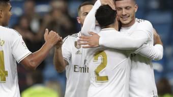 Luka Jovic freut sich über seinen ersten Treffer für Real Madrid