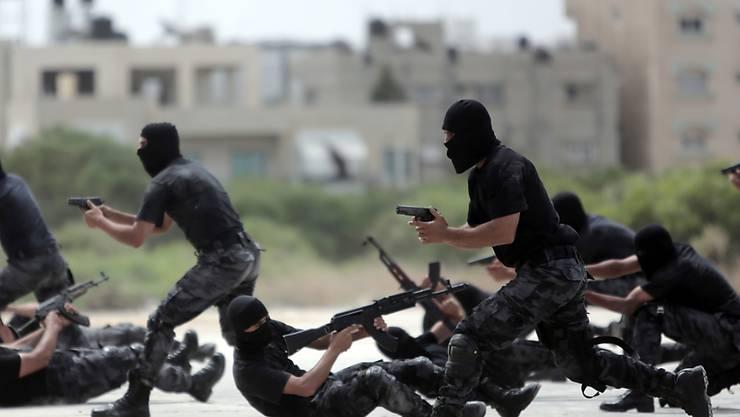 Schwere Vorwürfe: Sicherheitskräfte der Hamas in Gaza-Stadt (Symbolbild)
