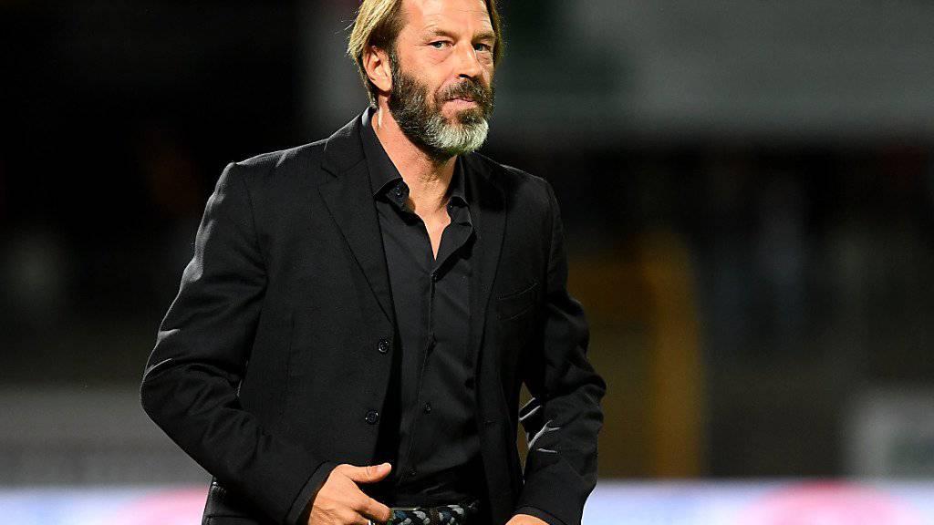 Sion-Coach Paolo Tramezzani bleibt trotz des Sieges gegen seinen Ex-Klub skeptisch