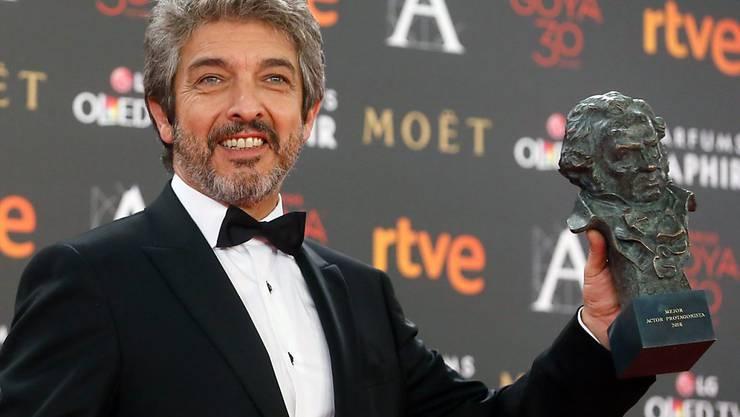 """Mit dem Goya-Filmpreis ausgezeichnet: Der argentinische Schauspieler Ricardo Darin für seine Rolle in der Dramakomödie """"Truman""""."""