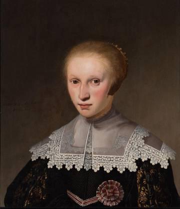 """Welche Kleider würde das Mädchen heute tragen? Jacob Gerritst. Cuyp """"Bildnis eines zehnjärigen Mädchens"""", 1636.  Bild auf einem Bastelbogen des Kunstmuseums St. Gallen"""
