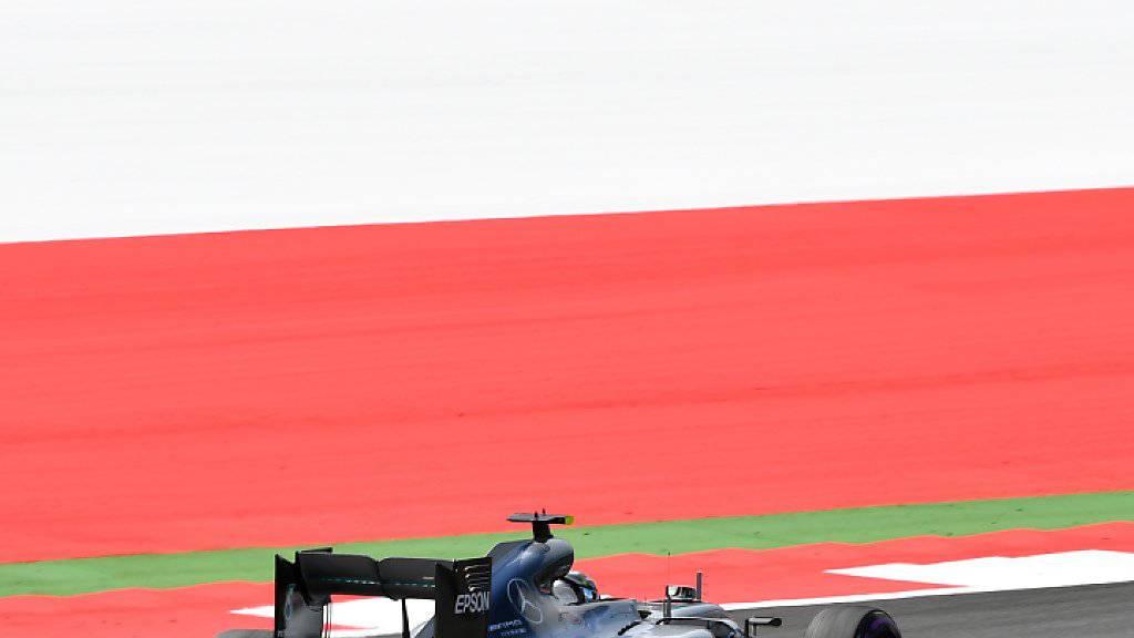 So schnell wie Nico Rosberg im Mercedes war noch keiner auf dem Red-Bull-Ring