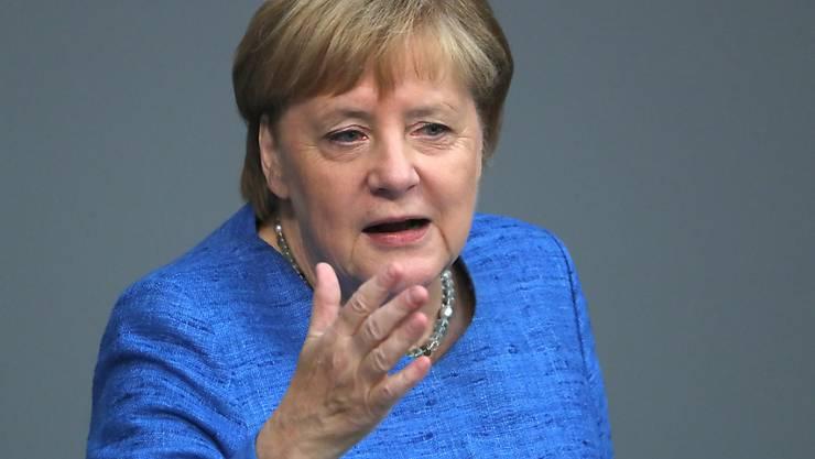 Für die deutsche Kanzlerin Angela Merkel ist der Klimaschutz eine Menschheitsherausforderung.(Archivbild)