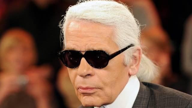 Karl Lagerfeld wollte schon immer weisse Haare haben (Archiv)
