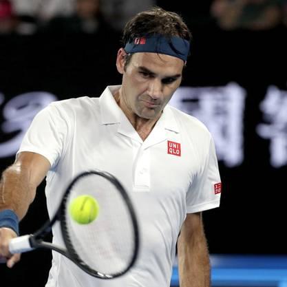Federer spielt fokussiert: Nun steht er im Achtelfinal.