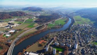 Im Gebiet Härdli an der Limmat soll es dereinst Platz für Wohnungen und Gewerbe haben. Franz Killer