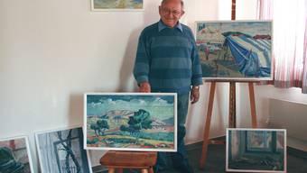 Fritz Burkhard zeigt Werke, die in einem Zeitraum von 46 Jahren entstanden sind.ISS