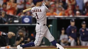 Den Houston Astros mit Carlos Correa fehlt nur noch ein Sieg zum Gewinn der World Series