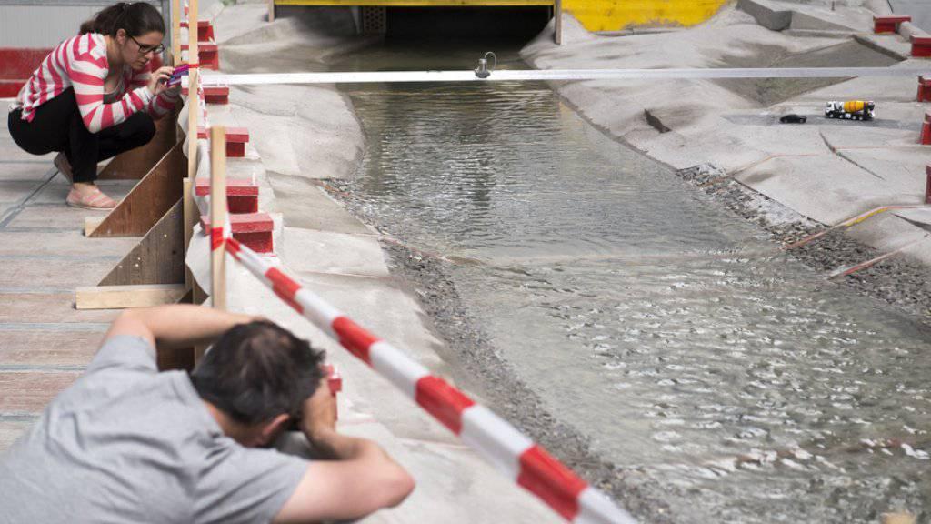 Simulation optimiert Bauarbeiten bei der Rhone