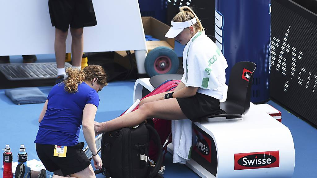 Jil Teichmann wurde in Auckland während der Zweitrunden-Partie gegen ihre Bezwingerin Julia Görges medizinisch behandelt