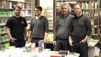 Im Labyrinth beginnt ein neues Kapitel: Thomas Rehmer (ganz rechts) will den Laden mit Geschäftsführer Matthias Staub (2.v.r.) und den Mitarbeitern Cédric Lutz und Julian Dilmi zurück in die schwarzen Zahlen führen.