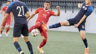 Andi Zeqiri trifft auch in seinem dritten Einsatz in der EM-Qualifikation doppelt