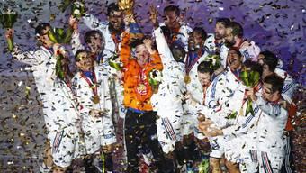Frankreich feiert den Weltmeistertitel im Handball.