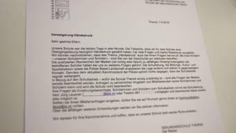 «Schulbetrieb geht regulär weiter», schreibt Rektor Jürg Lauener.