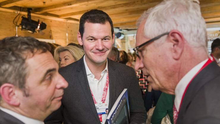 Pierre Maudet am diesjährigen WEF in Davos. Seine öffentlichen Auftritte sind allerdings seltener geworden – auch weil er nicht mehr so häufig eingeladen wird.