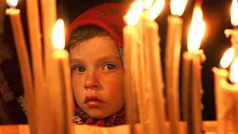 Orthodoxe Christen feiern das Osterfest