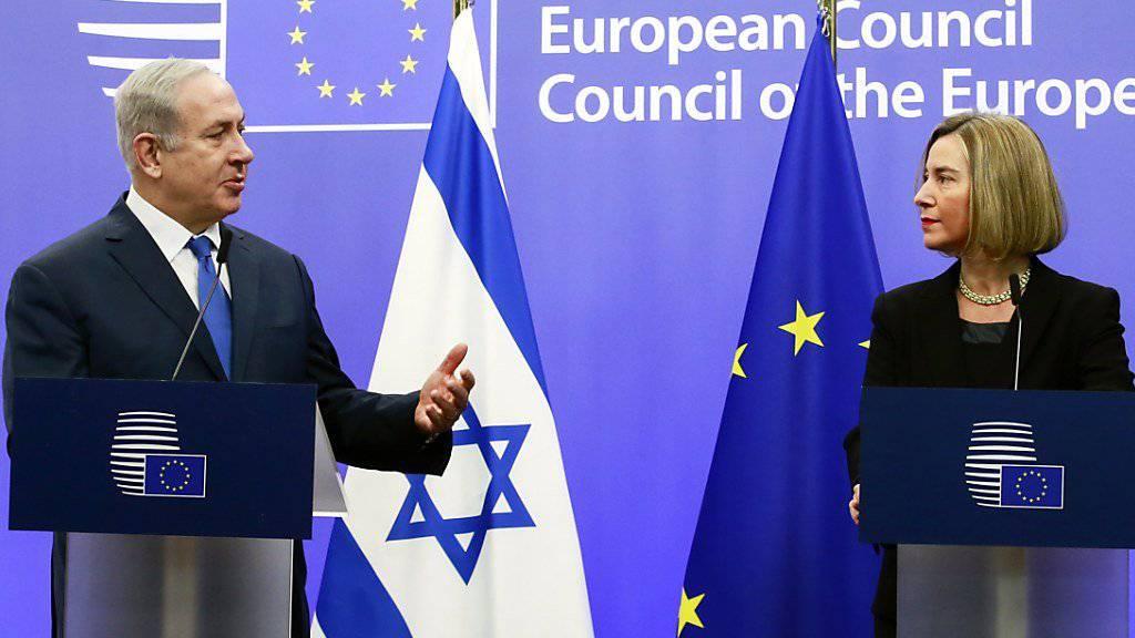 Israels Regierungschef Benjamin Netanjahu und EU-Chefdiplomatin Federica Mogherini