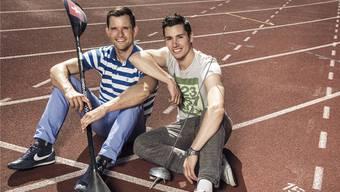 Mike Kurt (links) und Fabian Kauter wollen mit ihrer Plattform neuen Schwung in den Schweizer Sport bringen.