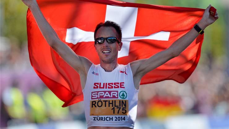 Viktor Röthlin – hier in seinem letzten Marathon an der EM in Zürich – kannte die Daten nicht, als er um deren Veröffentlichung bat.