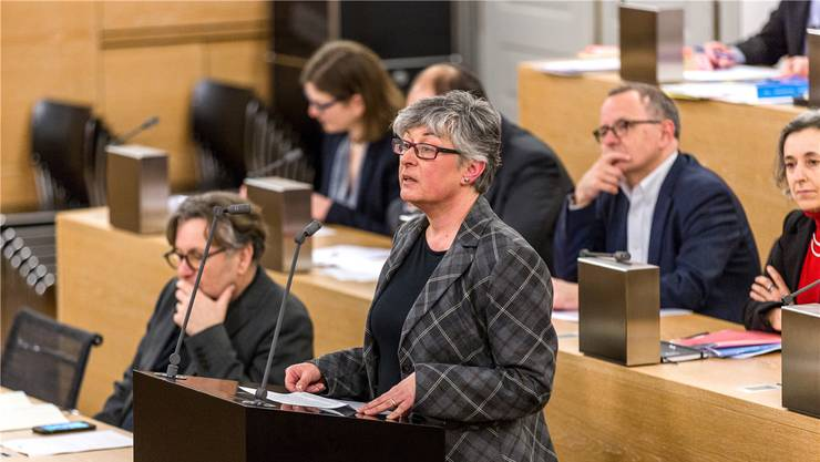 Die SVP – hier Susanne Heuberger – sieht im Rechnungsergebnis einen «krassen Widerspruch». san