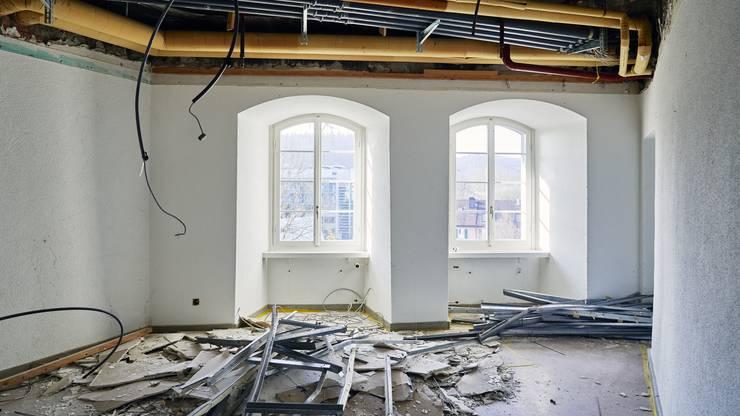 Die Sanierungsarbeiten in den drei Altstadthäusern haben bereits begonnen.